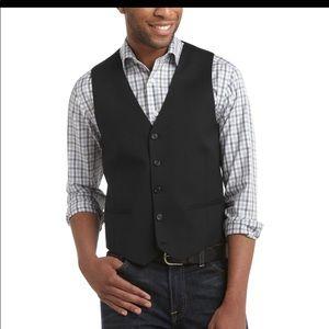 Egara Black Slim Fit Suit Separates Vest
